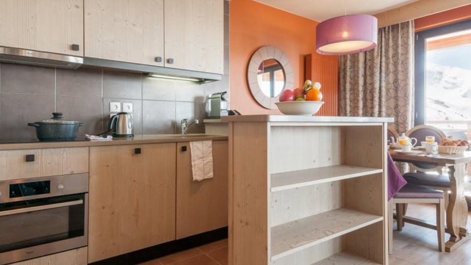 Kitchenette, Residence L'Amara, Avoriaz, France