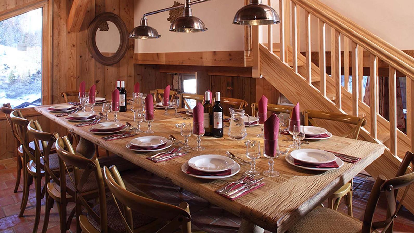 Dining Room in Chalet Klosters - Ski Chalet in La Plagne, France