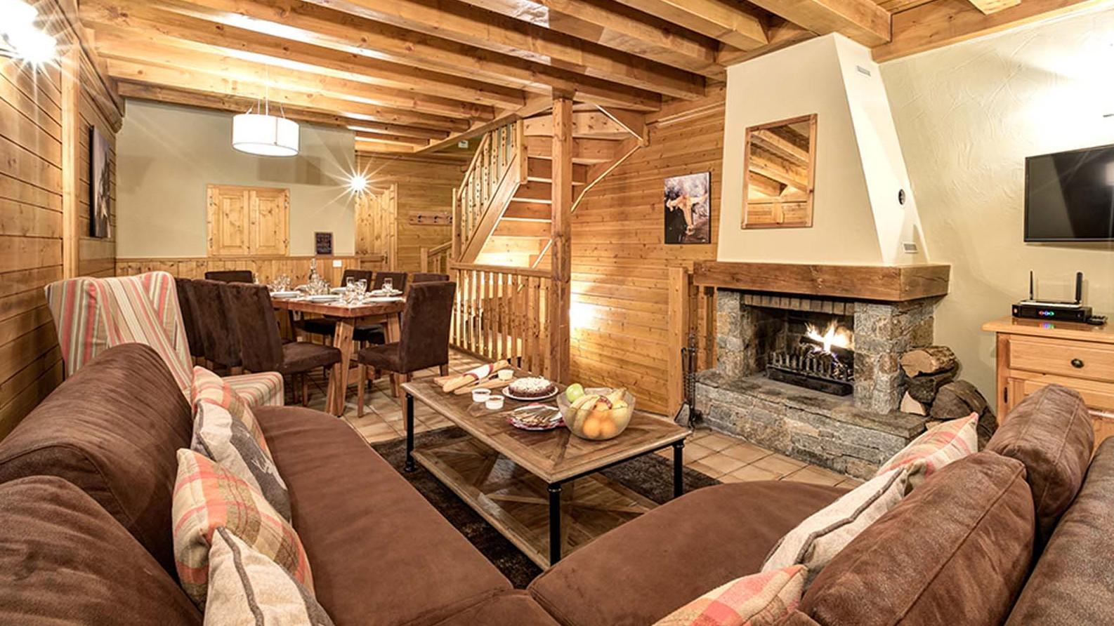 Lounge - Chalet Lever de Soleil - Ski Chalet in La Plagne, France