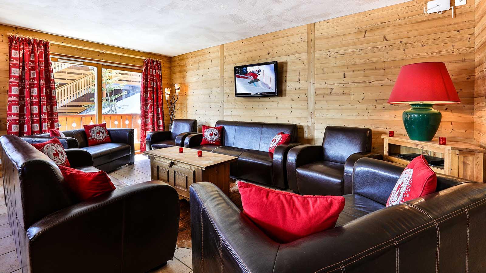 Living Area, Chalet Natalia II, Meribel Mottaret, France