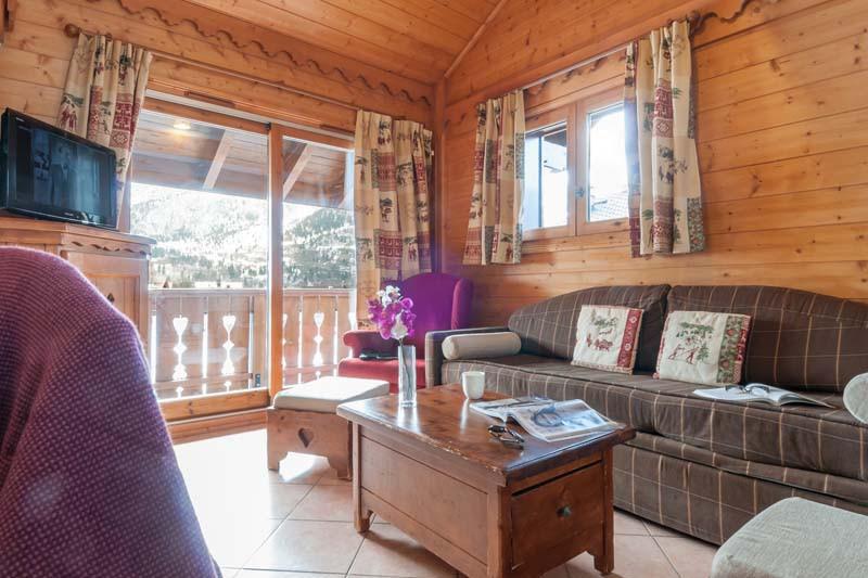 Living area in Les Fermes de Meribel - ski chalet in Meribel, France