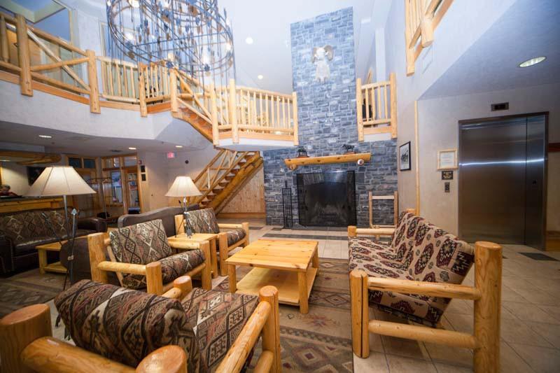 Lobby, Brewster's Mountain Lodge, Banff, Canada