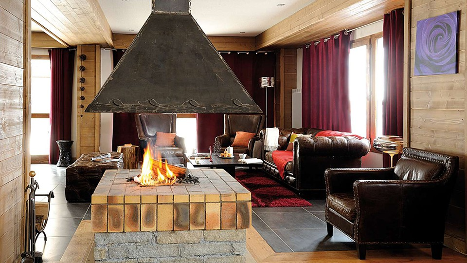 Lounge at Residence Les Chalets Edelweiss, La Plagne