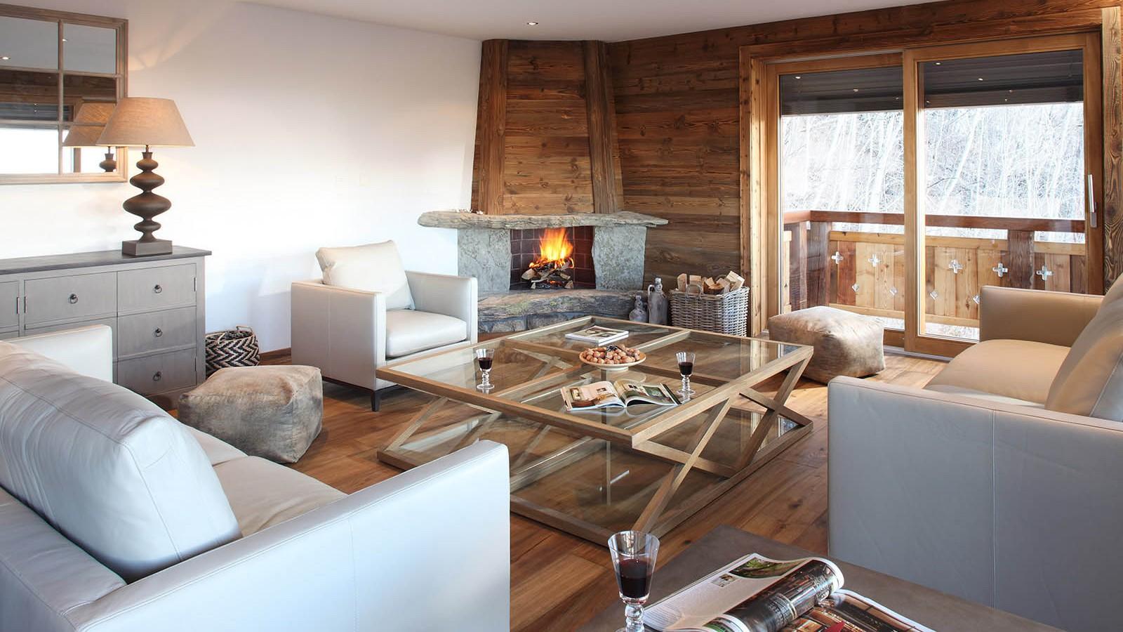 Lounge in Chalet Rosablanche, Nendaz