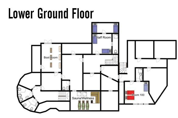 Floorplan of Chalet Stoanerhof, Mayrhofen, Austria, Lower Ground Floor
