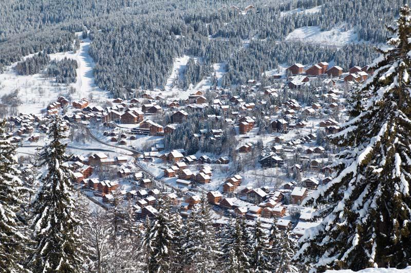 Meribel Ski Resort, France, Chalets in the Snow