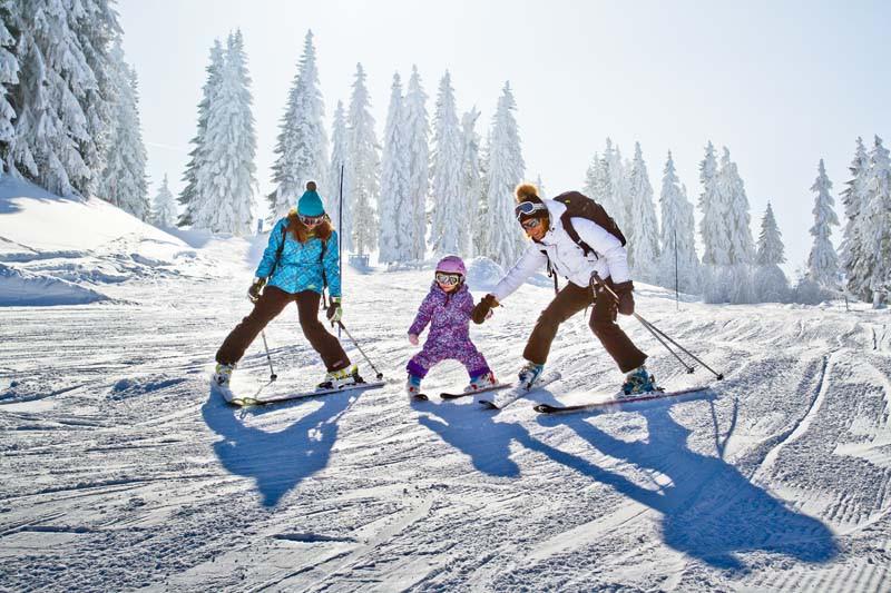 Morzine Ski Resort, France, Child Skiing on a Blue Piste