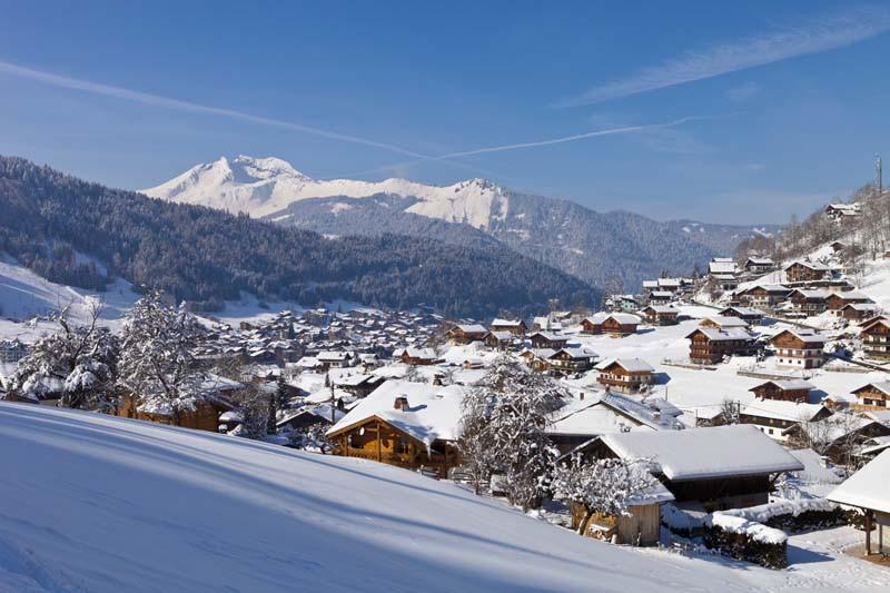Morzine Ski Resort, France, Village in the Valley