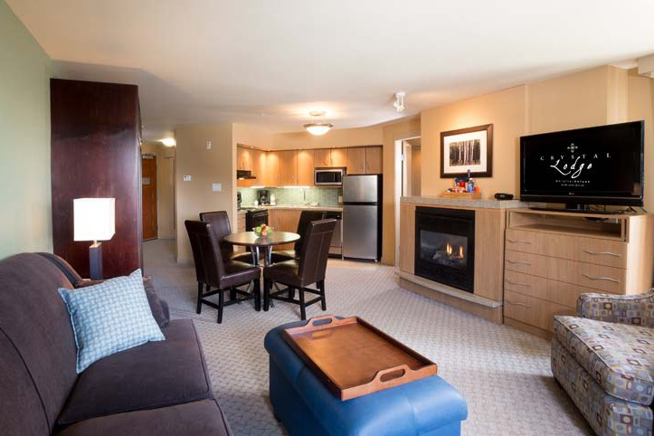 Crystal Lodge, Whistler, Canada, One Bedroom Queen Living Suite