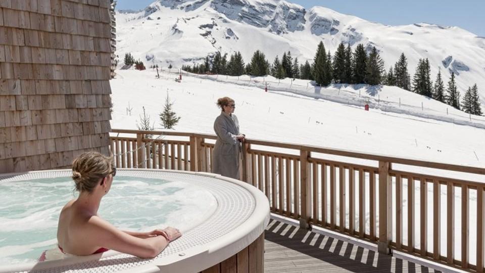 Outdoor Hot Tub, Residence L'Amara, Avoriaz, France