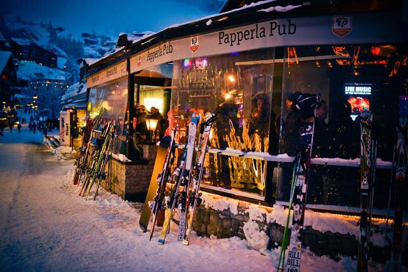 Papperla Pub in the Village, Zermatt, Switzerland;