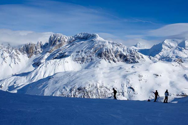 Piste Skiing, Courchevel, France; David Andre