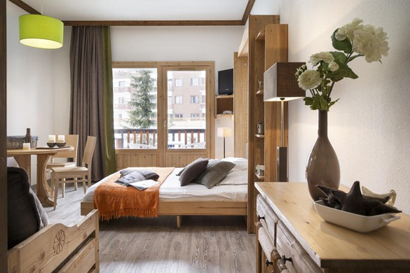 Residence Les Chalets du Solaise bedroomp, Val D'Isere