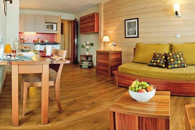 Residence Les Plagne Lauze Apartments lounge green, La Plagne