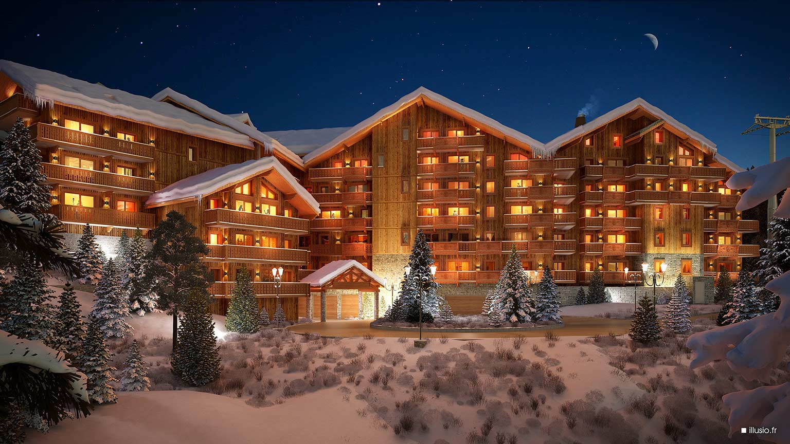 Residence L'Hevana, Meribel - Night