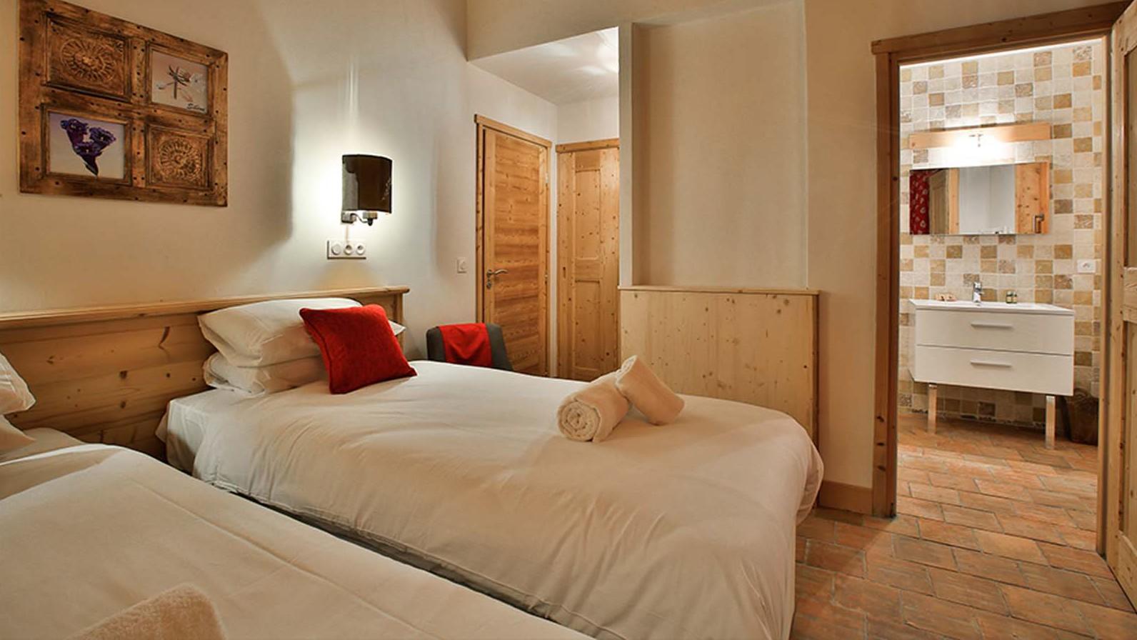 Bedroom twin, Chalet Silene, La Plagne, France