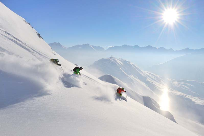 St Anton Skiing Off Piste