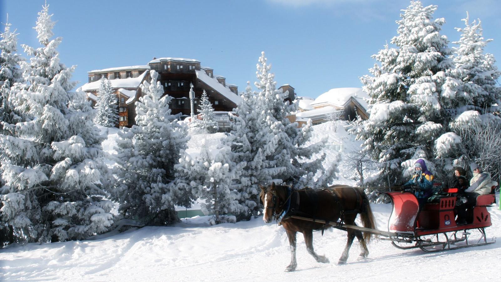 Avoriaz, France, Horse-Drawn Sleigh Ride