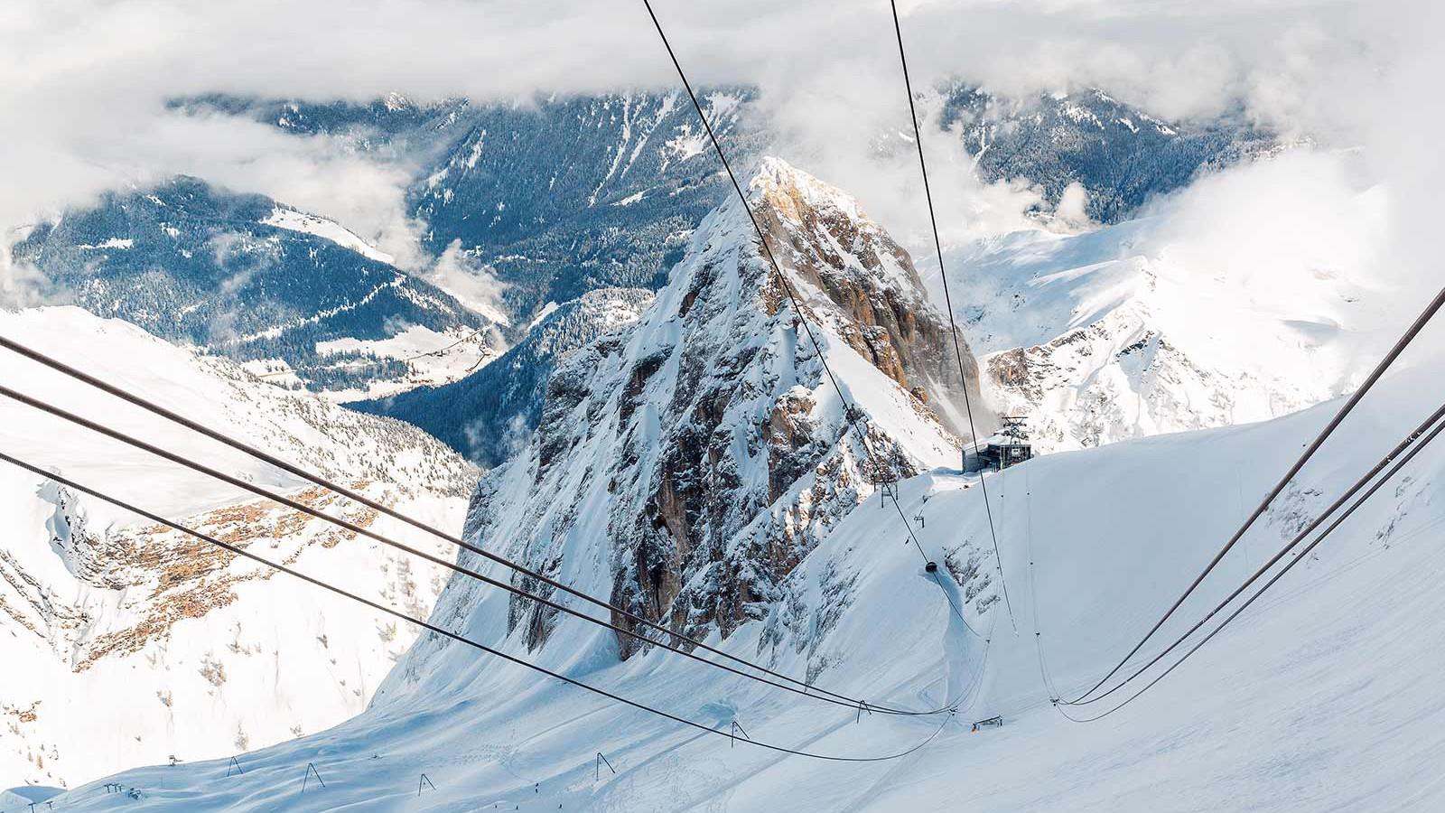 The Dolomites from Marmolada glacier of Arabba