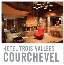 lounge hotel trois vallees courchevel
