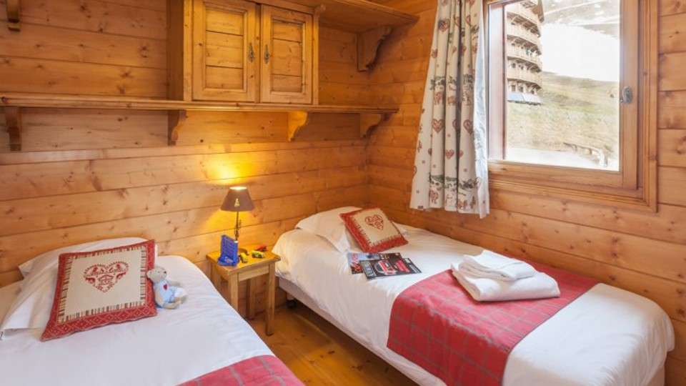 Twin Bedroom, Les Alpages de Reberty, Les Menuires, France