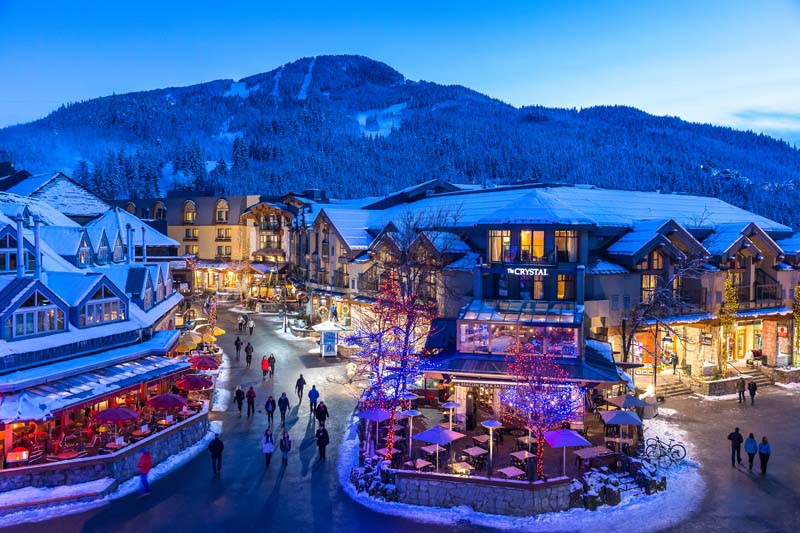 Crystal Lodge, Whistler, Canada, Winter Exterior