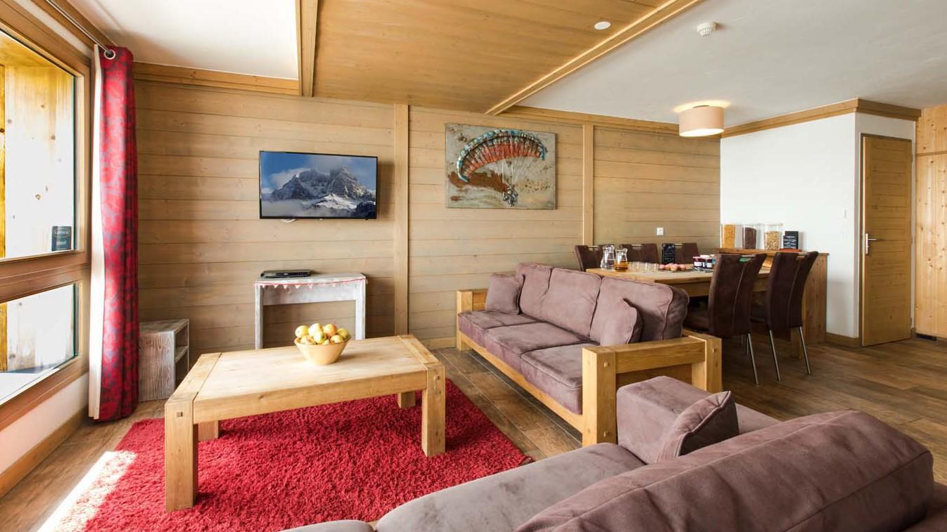 Living Area, Chalet Violetta, Tignes, France