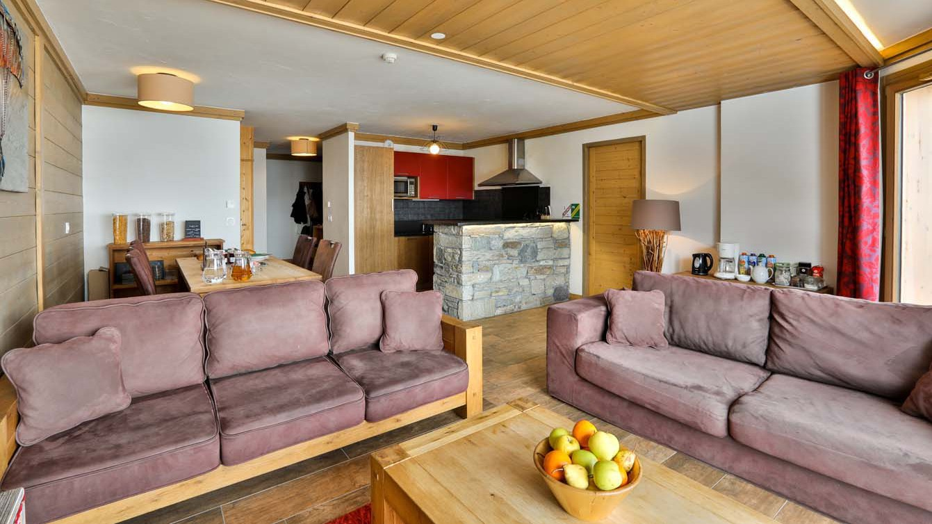 Living Area, Chalet Violetta, Tignes, France