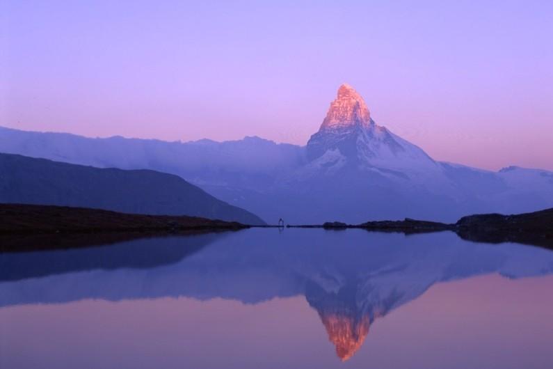 Matterhorn vista and reflection at dusk