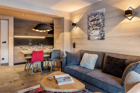 Living Area, Residence Chalet Skadi - Ski Apartments in Val d'Isere, France