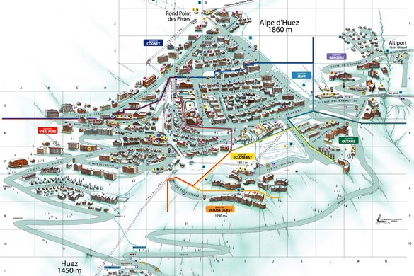 Alpe d'Huez resort map