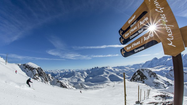 Alpe d'Huez piste Sign