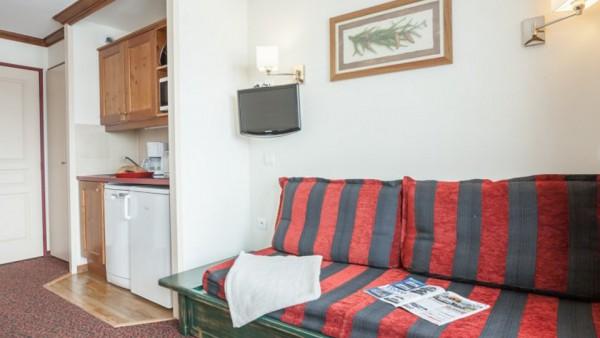 Living Area, Residence Le Mont Soleil, La Plagne, France