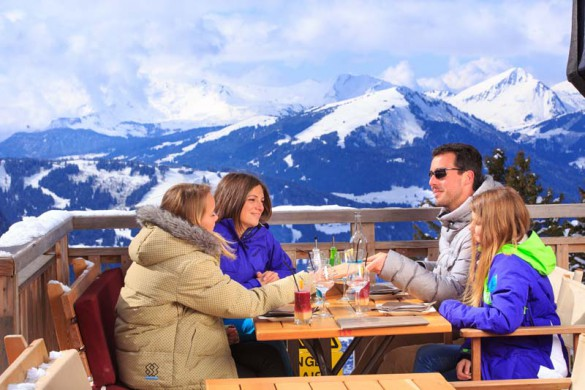 Avoriaz, France, Family Meal