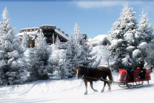 Avoriaz, France, Horse-Drawn Sleigh Ride