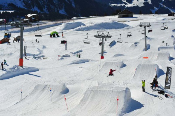Avoriaz, France, Snowpark Jumps and Rails