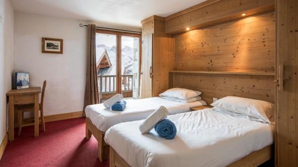 Bedroom in the Ski Lodge Aigle, Tignes, France