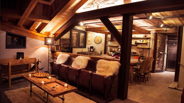 Living and Dining Area, Chalet Benjamin, Courchevel, France