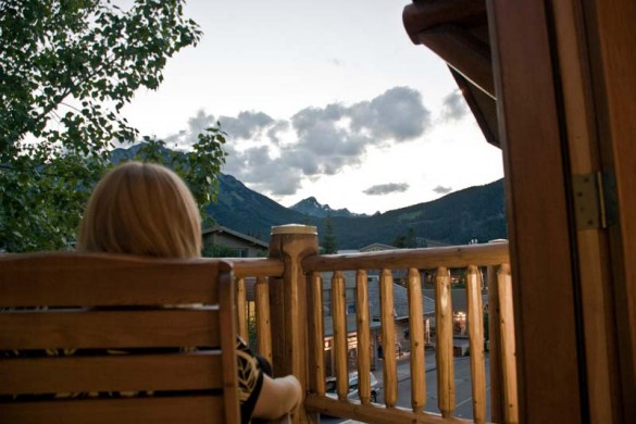 Brewster's Mountain Lodge, Banff, Canada, Balcony