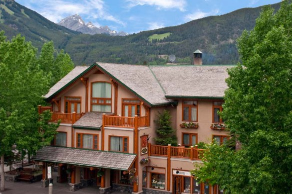 Brewster's Mountain Lodge, Banff, Canada, Exterior with Mountains