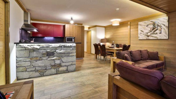 Living and Dining Area, Chalet Carmen, Tignes, France