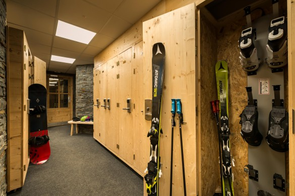Altitude building ski and boot room, Val Thorens