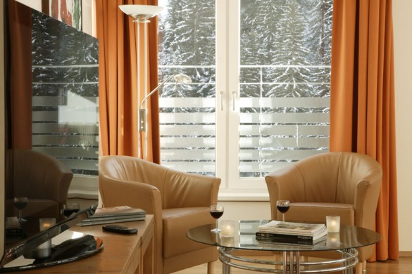 Chalet Altepost TV room close up, St Anton