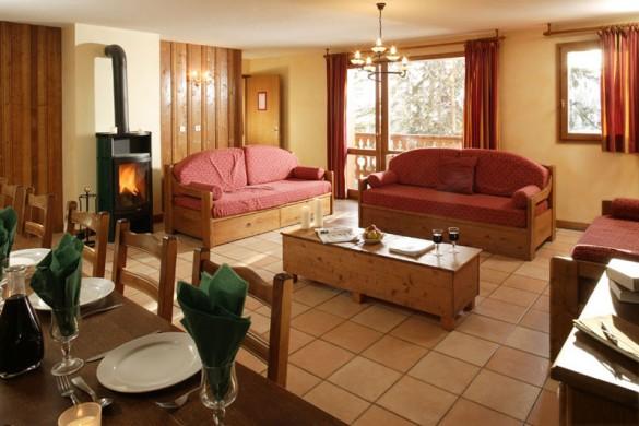 Chalet Clarine lounge, La Plagne