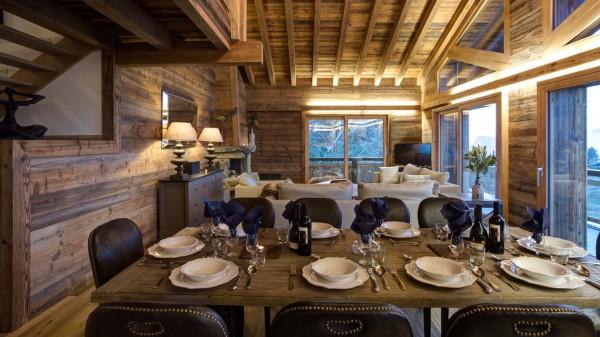 Main Living and Dining Area in Chalet Altair in Nendaz, Switzerland