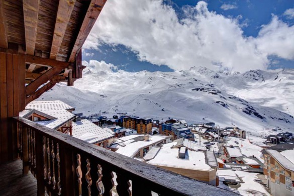 Chalet Cerise, Val Thorens, France, View from Balcony