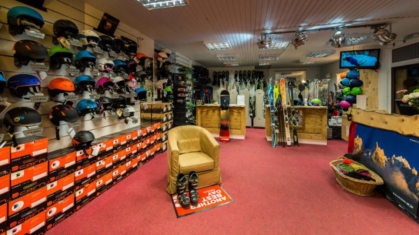 Ski hire shop in Val 2400 building, Val Thorens, France