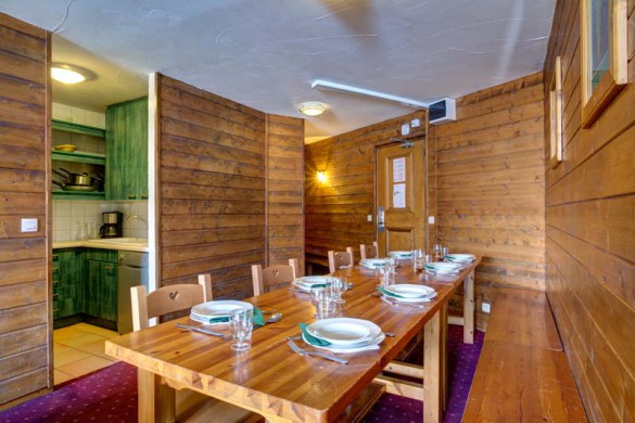 Chalet Leo, Val Thorens, France, Dining Roon