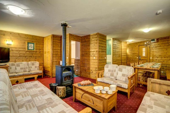 Chalet Leo, Val Thorens, France, Living And Dining Area