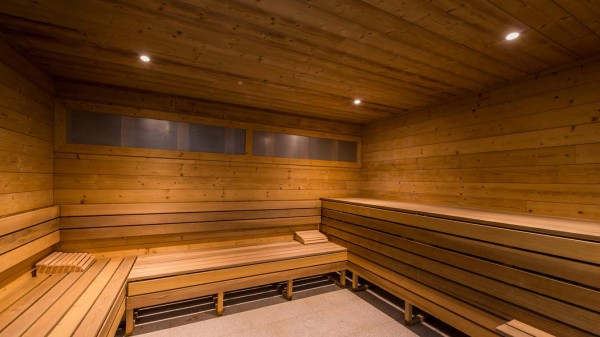 Shared sauna in Val 2400 building, Val Thorens, France